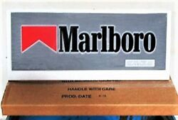 2 Ft Marlboro Sign For Lighted Cigarette Display Header New In Box