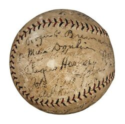 1926 St Louis Cardinals World Series Champs Team Signed Baseball Babe Ruth JSA