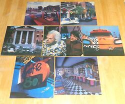 Back To The Future Movie Scene Window Decal Sticker Poster Sign Set Pizza Hut