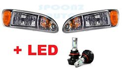 2009 2010 2011 2012 PETERBILT Headlight With LED Bulbs 6500K SET - PAIR