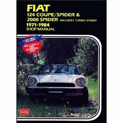 FACTORY WORKSHOP SERVICE OWNERS REPAIR MANUAL BOOK FIAT 124 COUPE 2000 SPIDER