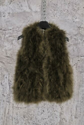Brand New Valentino Green Marabou Vest Jacket With Turkish Feathers 40it 6990