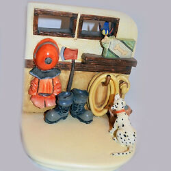 To The Rescue Model 1020-d Hummelscapes / Goebel Made 1999 Hand Painted China