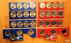 2007 - 2010 Presidential Dollar 32 Coin Pandd Us Mint Satin Set In Mint Packaging