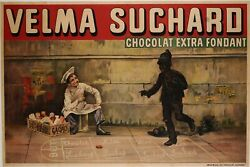 Original French Vintage Advertising Poster For Velma Suchard Chocolate