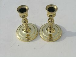 Vintage Pair Quality Classic Baldwin Brass Candle Sticks Candlesticks Holders 2