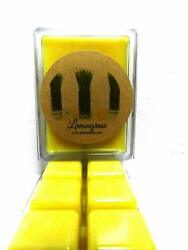 COMBO 3 Packs of Lemongrass 3.2 Ounce Wax Tarts - Scent Brick wickless candle