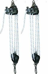 Bl004 - Medium Boat Lift Tackle With Cam Cleat And 3/8 Rope Included