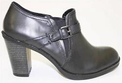 Womenand039s Shoes White Mountain Ticket High Heel Bootie Elastic Panels Strap Black