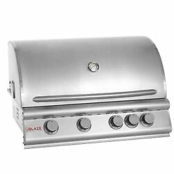 32 4-burner Built-in Gas Grill With Rear Infrared Burner Gas Type Natural