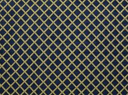 Upholstery Chenille Navy Diamond Drapery home fabric by the yard 57quot; Wide