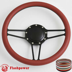 14and039and039 Billet Steering Wheels Half Wrap Custom Chevy Ididit Flaming River W/ Horn