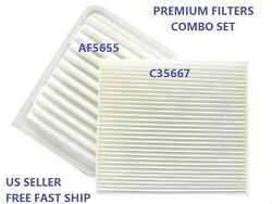Air Filter Cabin Air Filter Combo Af5655 Ca10190 C35667 Cf10285 For Toyota Scion