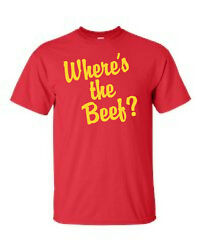 Vintage Wendy's Where's the Beef? logo T-Shirt