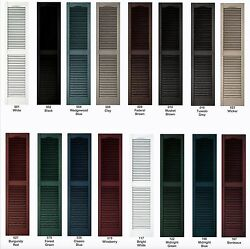 Cathedral Louver Exterior Vinyl Shutters 75- 80 Quality With Lifetime Warranty