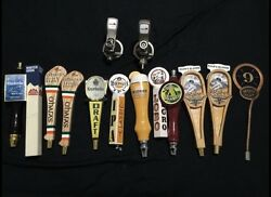 14 Peice Collectible Craft Beer Tap Handle And Keg Coupler Lot