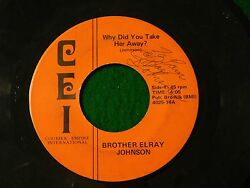 Brother Elray Johnson -autographed Deep Soul 45 Cei - I'm Gonna Hold On