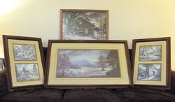 Lee Roberson Collection Of 6 Signed And Numbered Prints Cades Cove Snugged In