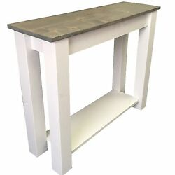 Cottage Sofa Table Entry Table End Table Foyer Console Table Shelf Storage