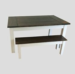 Colonial Harvest Table With Breadboard Ends Rustic Harvest Farmhouse Kitchen Di