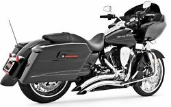 Freedom Sharp Curve Radius Exhaust Chrome Road King Electra Street Tri Glide