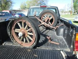 Vintage Maxwell Front Axle Complete W Tires, Rims, Etc
