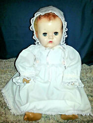 1943 Effanbee 21 Dydee Baby Doll Rubber Torso Blonde Caracul Hair Antique Vtg