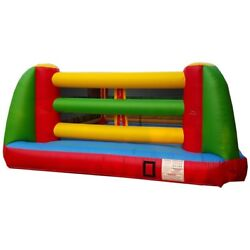 Commercial Inflatable Game- Boxing Ring With Oversized Gloves, Headgear And Blower