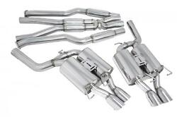 Megan 3 Catback Exhaust Quad Stainless Tips Oe-rs For 05-10 Bmw E60 M5