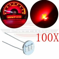 100x 4.7mm Red LED BackLight Gauge Speedometer Climate Control Bulbs For Chevy