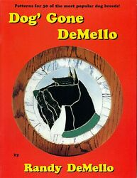 Dog Gone DeMello Stained Glass Pattern Book Beagle Retriever Collie Terrier etc