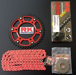 Rk Gxw Supersprox Chain Set Yamaha R1 Rn12 Rn19 17-45-118 Stealth Red Core