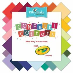 Riley Blake Confetti Cottons Solids Priced By The 1/2 Yard