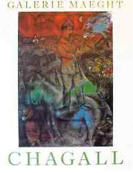 Original Vintage Poster Artist Chagall - Galerie Maeght - Large Poster - 1975