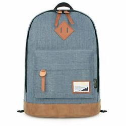 HT92005 Classic College Backpack Canvas Backpacks Bag Fits 15 inch Laptop $15.82