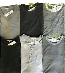 New James Perse S.sleeve Crew And V-neck T-shirts Asst Colrs And Sizes 60-115 Rtl