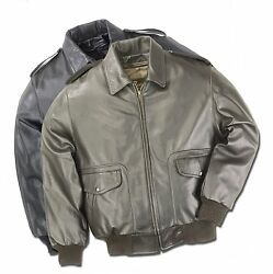 A-2 Us Air Force Flight Coat Leather Flight Bomber Jacket Reed Union Made In Usa