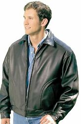 All American Top Quality Coat Bomber Leather Jacket Union Made In Usa By Reed