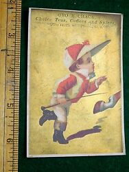 1870s-80s Geo. E. Chace, Coffee, Tea, And Spices Jockey Horse Victorian Card F10