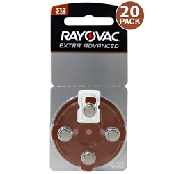 Rayovac Extra Hearing Aid Batteries Size 312 20 Batteries