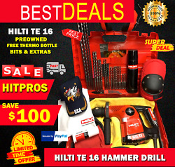 Hilti Te 16 Drill Preowned Made In Germany Free Bits Thermo Bottle Fast Ship