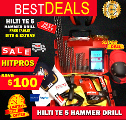 Hilti Te 5 Preowned, Free Tablet, Bits And Extras, Fast Ship