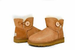 UGG Women's Mini Bailey Button 2 II 1016422 in Black or Chestnut Sz 5-11 NEW