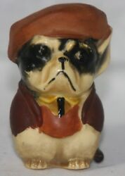 Tape Measure Dog W/ Shirt Hat And Jacket Original C1920 Antique Made In Germany