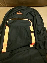 2015 quicksilver college backpack black and orange new with tags $39.88
