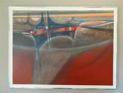 Vintage Painting On Canvas Abstract By James Mcconnell 1981 Listed