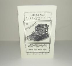 Caligraph Reproduction Typewriter Instruction Manual Reproduction