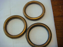 Ring Solid Brass 1 1/2 Outside Diam Made Italy Nos 3/16 Thick - 1 1/8 Id New