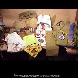 Large Lot 1950-60s Boy Scout Uniforms Patches Order Of Arrow And Much More 30+
