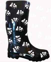 Customized American Pit Bull Terrier Rubber Rain Boots.